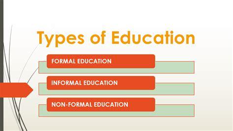 types of education formal informal amp nonformal