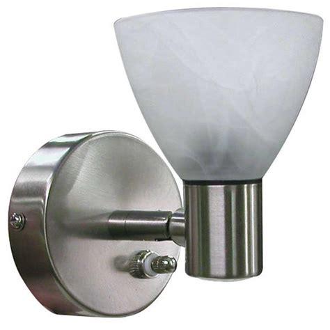 Motorhome Lighting Fixtures Combination Directional Reading Pin Up Light Brushed Nickel Finish Itc 69704 Ni 98 D Light