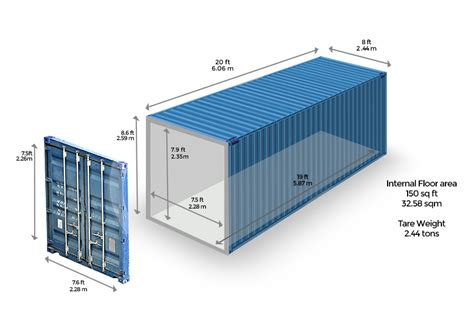 shipping container and external dimensions mfc