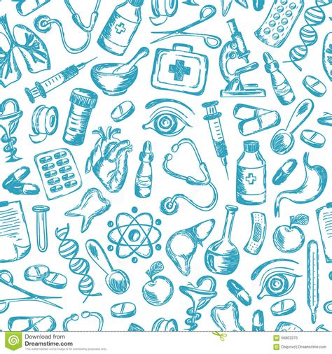 free medical background pattern seamless pattern medical icons and elements of stock