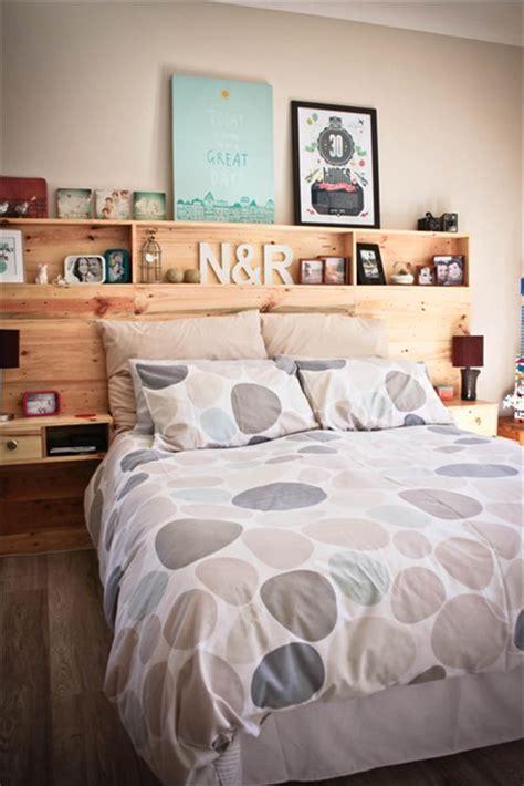 cabecero de cama de palets  almacenaje  love palets