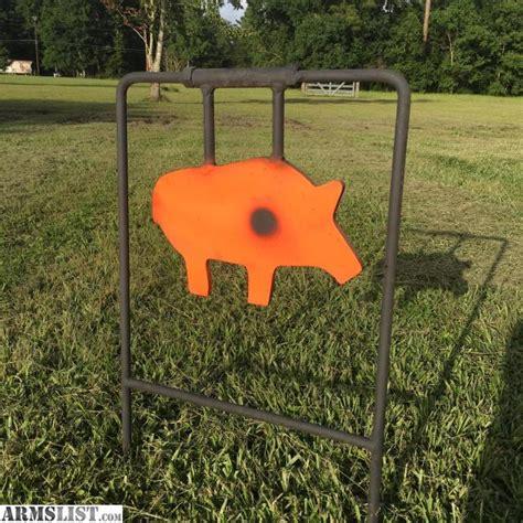 swinging steel targets armslist for sale 1 2 quot thick swinging swine steel target