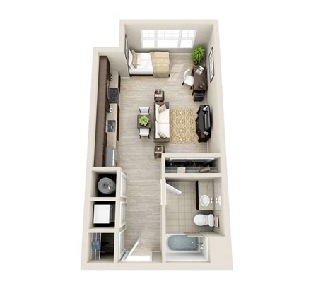 Studio Apartment Floor Plan 50 Studio Apartment Floor Plans