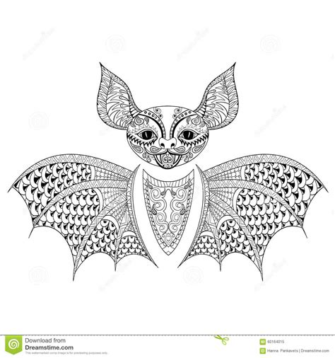 balance anti stress coloring zentangle balance and stress relief coloring book for adults zentangle bat totem for anti stress coloring page