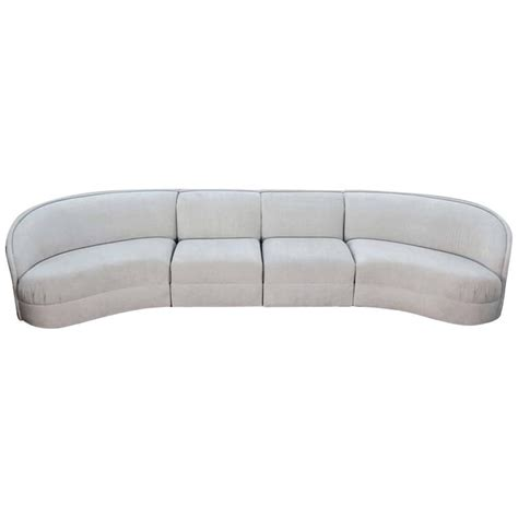 Curved Modern Sofa Large Curved Modern Sofa For Sale At 1stdibs