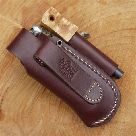 leather knife pouch tbs leather small folding knife belt pouch with firesteel loop