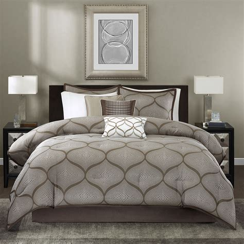 modern grey comforter beautiful modern contemporary chic brown taupe grey