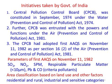 section 9 water act significance of progressive revisions of national ambient