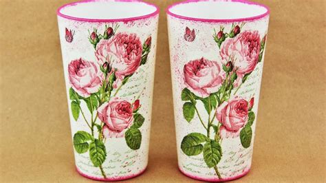 decoupage simple how to make a decoupage glass fast easy tutorial diy