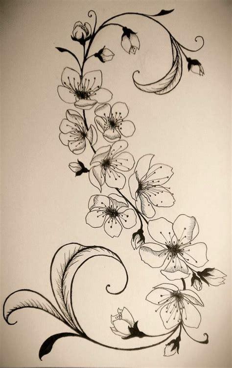 blumenranken tattoo 20 sch 246 ne vorlagen f 252 r diverse