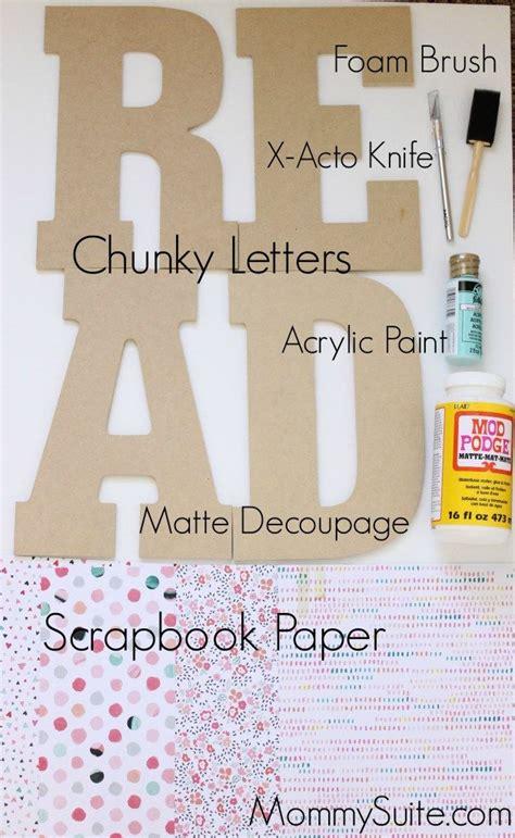25 Best Ideas About Decoupage Letters On