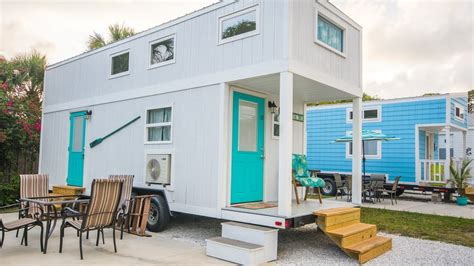 stay in a tiny house seas the day with a stay in the sand dollar tiny house