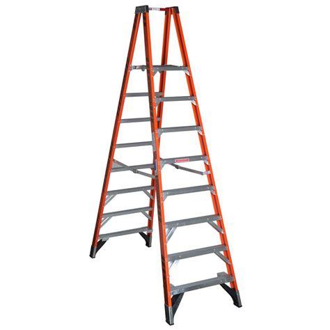 step ladders werner ladders 10 ft fiberglass platform