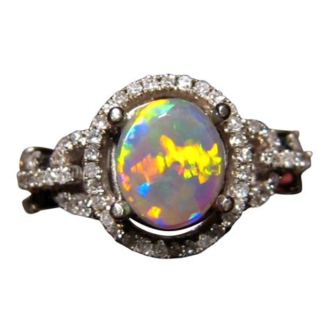 harlequin opal and 14k gold ring flashopal
