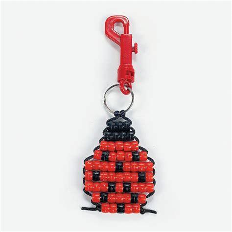 how to make keychains with pony pony bead ladybug key chain craft kit orientaltrading