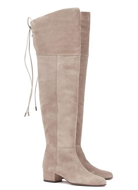 low heel boots s low heel boot in taupe suede shoe store pura