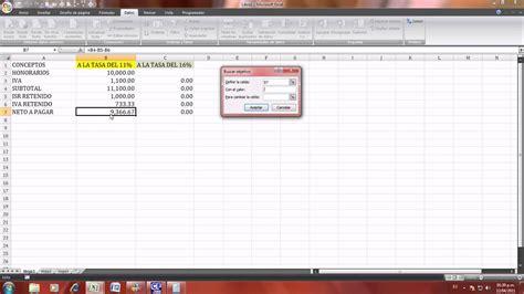 como sacar el pago de honorarios excel 2007 calculo de recibo de honorarios youtube
