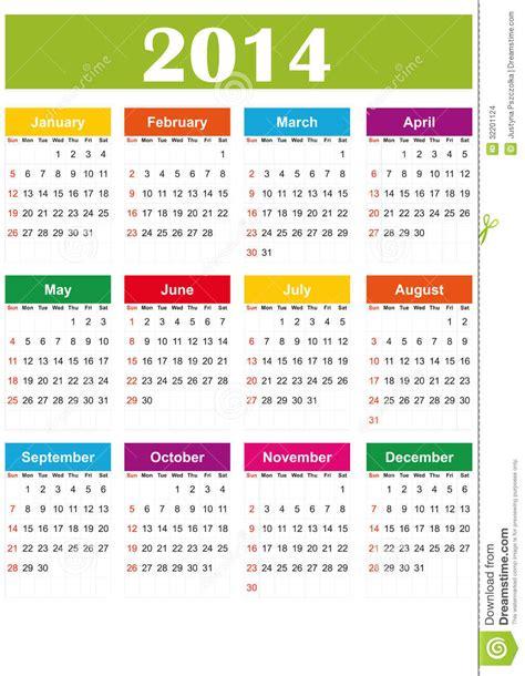 Calendario L 2014 Calend 225 2014 Simples