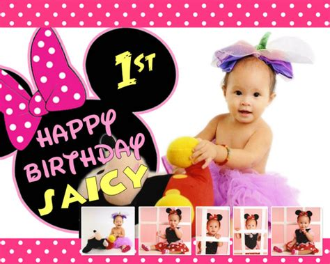 saicy trozos st birthday minnie mouse cebu balloons