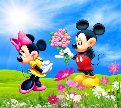 wallpaper mini disney mickey minnie desktop background hd wallpapers mickey