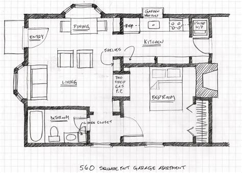 Apartment Plans With Garage by Small Scale Homes Floor Plans For Garage To Apartment