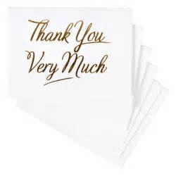 gold thank you cards paperchase