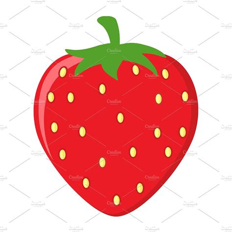 strawberry cartoon strawberry fruit cartoon flat design illustrations