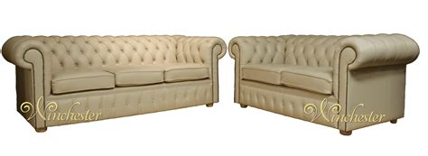 cream chesterfield sofa chesterfield 3 2 cream leather sofa offer leather sofas
