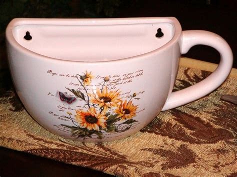 Large Coffee Cup Planter by 366 Best Images About Vtg Kitchen Wall Tea Coffee