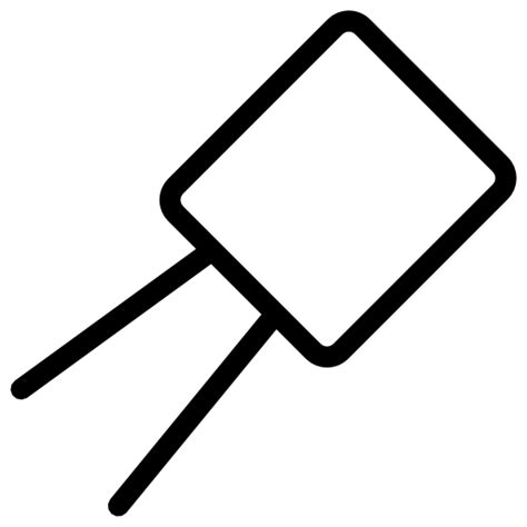 capacitor symbol with arrow capacitor free icons