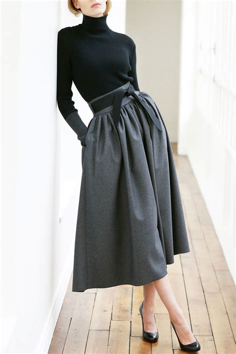 Skirt Highwaist martin grant high waisted skirt with belt in blue lyst