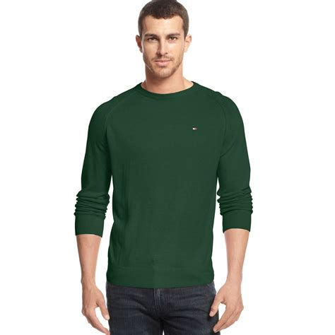 Hilfiger Crewneck hilfiger american crewneck sweater in green for lyst