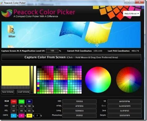 color picker windows screen color picker for windows peacock color picker