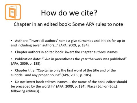 reference to book chapter cite it right