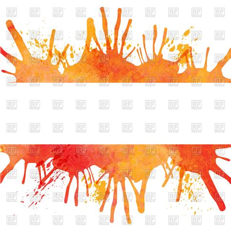 orange watercolor paint blobs banner vector image 42945 rfclipart