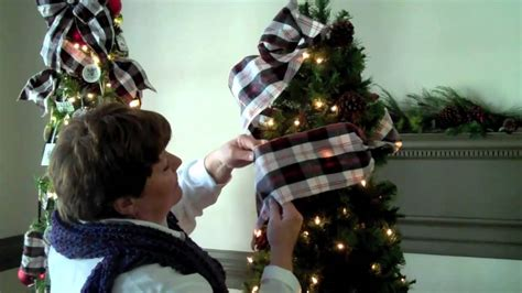 where to put christmas tree using ribbon on your christmas tree youtube