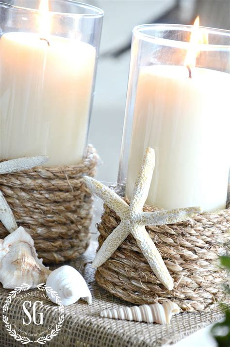 Rope Candle Holders For Summer | pottery barn inspired rope wrapped candleholder diy