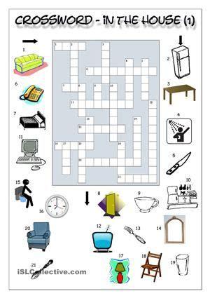 crossword   house  muebles ejercicios de
