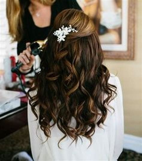 prom hairstyles for brunette hair curly homecoming hairstyles