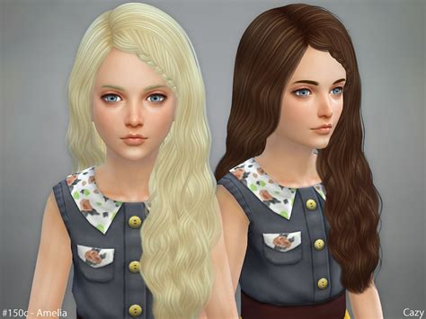 child bob haircut sims 4 cazy s retexture amelia hairstyle set braided mesh needed