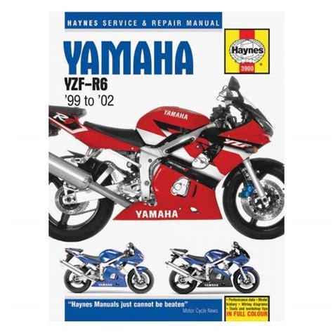 Haynes Manuals 174 M3900 Yamaha Yzf R6 1999 2002 Repair