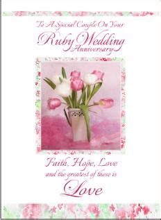 60th Wedding Anniversary Religious Wishes by Christian Anniversary Cards Ruby Anniversary Cards
