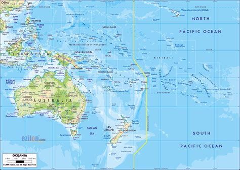 map of australia and cities large detailed physical map of australia and oceania with