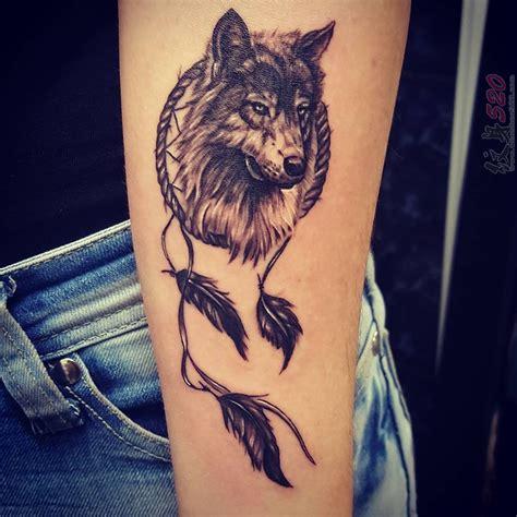 多款黑色素描点刺技巧创意霸气狼头纹身图案