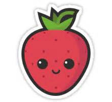 Home Decor Artwork by Quot Cute Strawberry Quot Stickers By Cute Recipes Redbubble