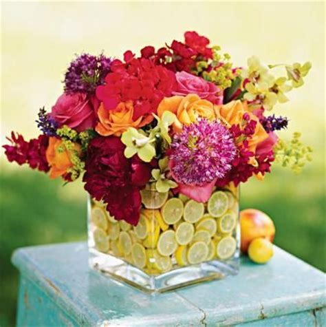 colorful summer centerpieces summer mosaics and flower