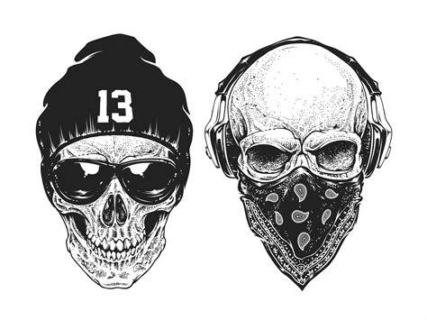 gangsta style skull set