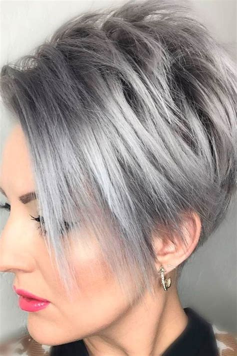 short hair styled with tousling or directed away from the face 17 best ideas about layer haircuts on pinterest brunette