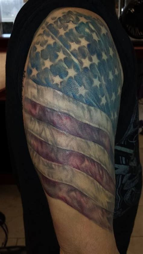 american flag half sleeve tattoo designs 13 us flag on half sleeve