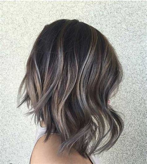 short hair cut and ash color streaks look grey short hair color ideas you need to see short hairstyles